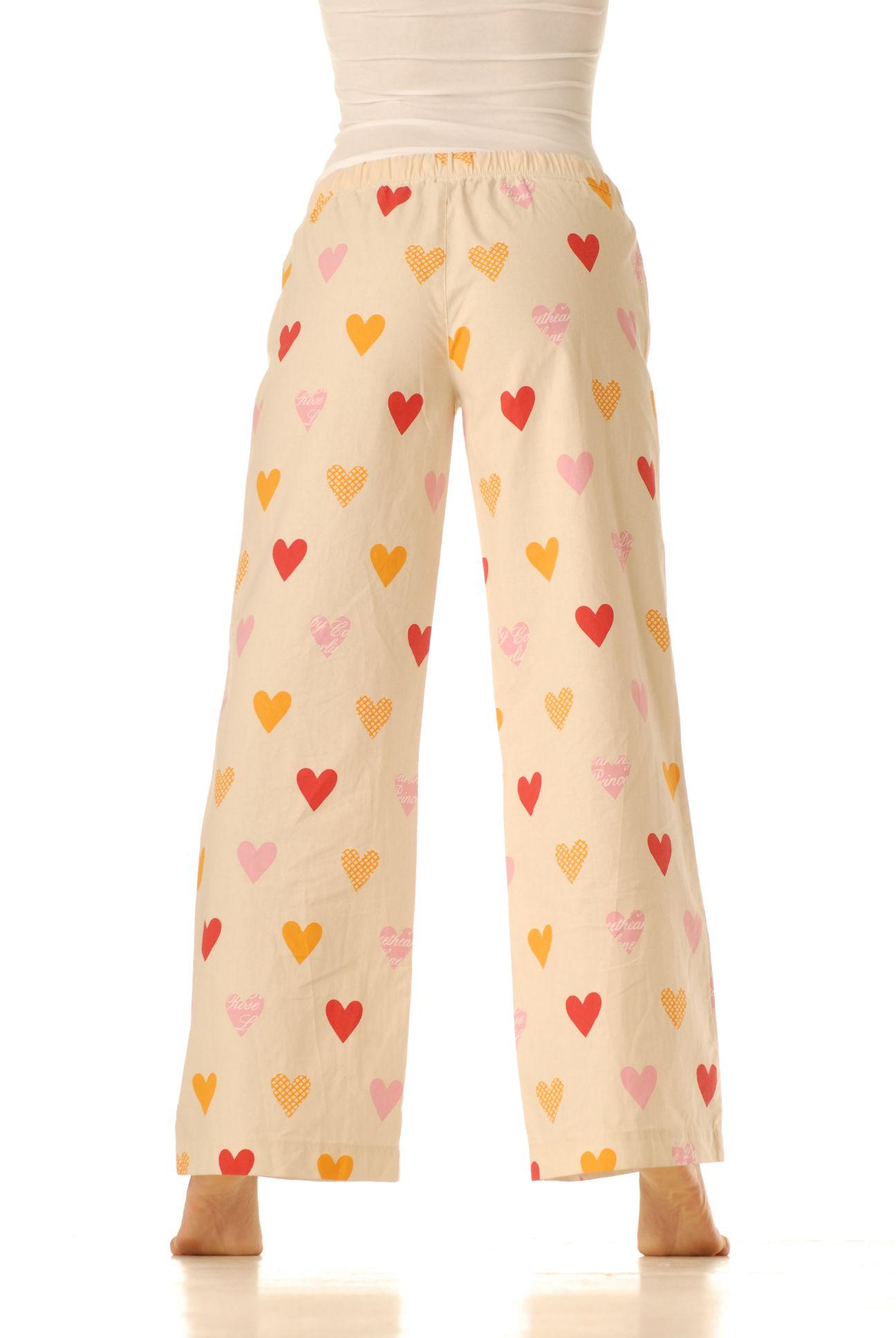 Pyžamové kalhoty – Srdíčka